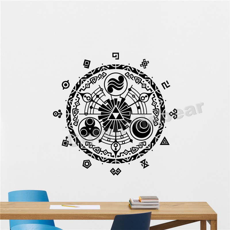 Gate Of Time Wall Sticker Legend of Zelda Vinyl Decal Removable Nursery Home Interior Bedroom Decor Kids Children Room Mural