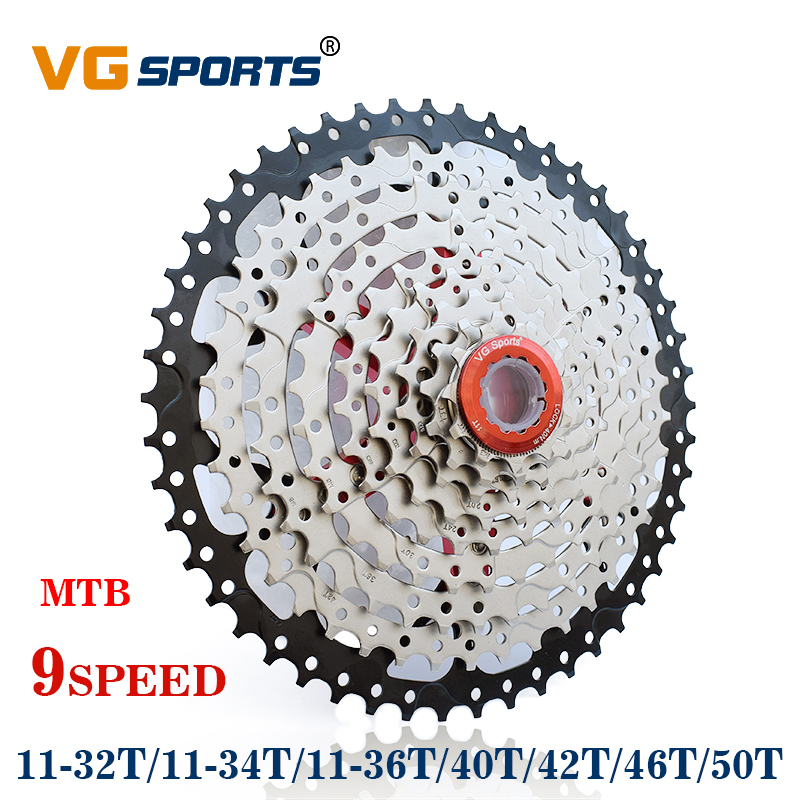 Vg Sports 9 Speed 11-46t Cassette Freewheel Mountain Bike Flywheel Bicycle Parts Cassettes, Freewheels & Cogs
