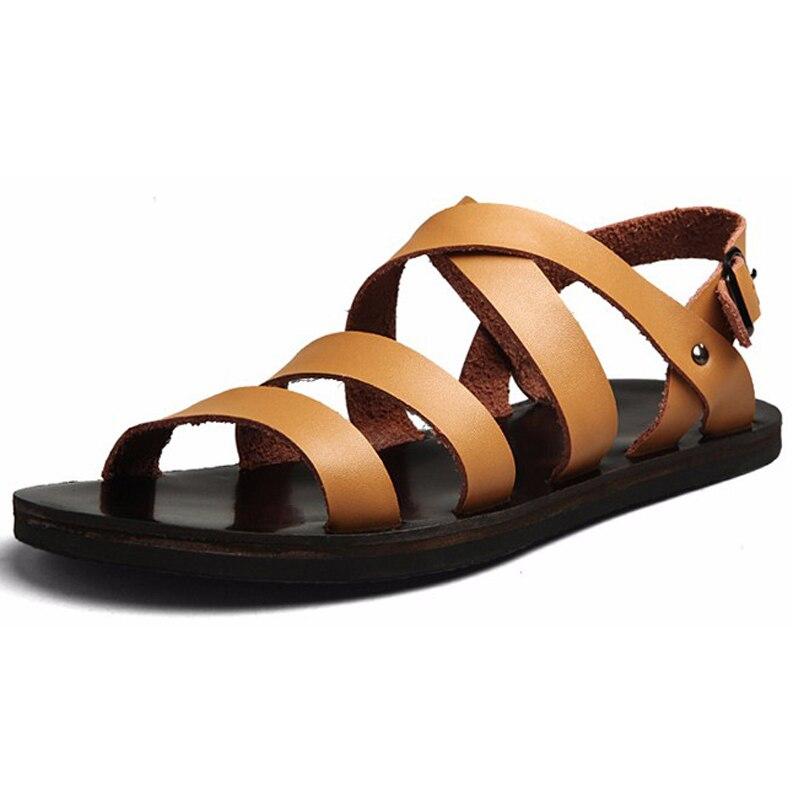 M?nner Sandalen Sommer Schuhe Strand Breathable Schnalle Gladiator Sandalen