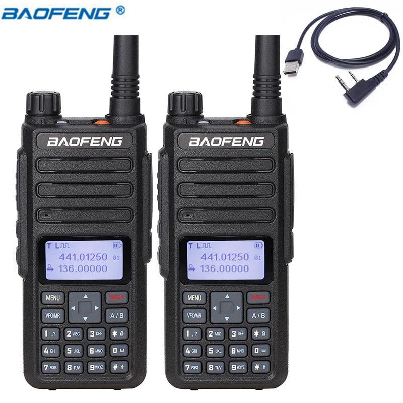 2PCS Baofeng DM 860 DM 1801 DMR digital Walkie Talkie Digital Radio Transceiver Compatible With Mototrbo