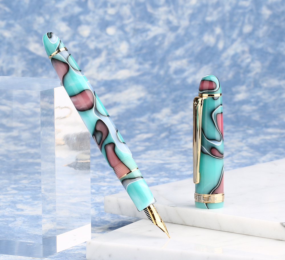 Image 5 - Moonman S3 Acrylic Resin Fountain Pen Colored Iridium Extra Fine / Fine Nib 0.38 / 0.5mm Writing Ink Pens Gold Trim Gift Pen-in Fountain Pens from Office & School Supplies