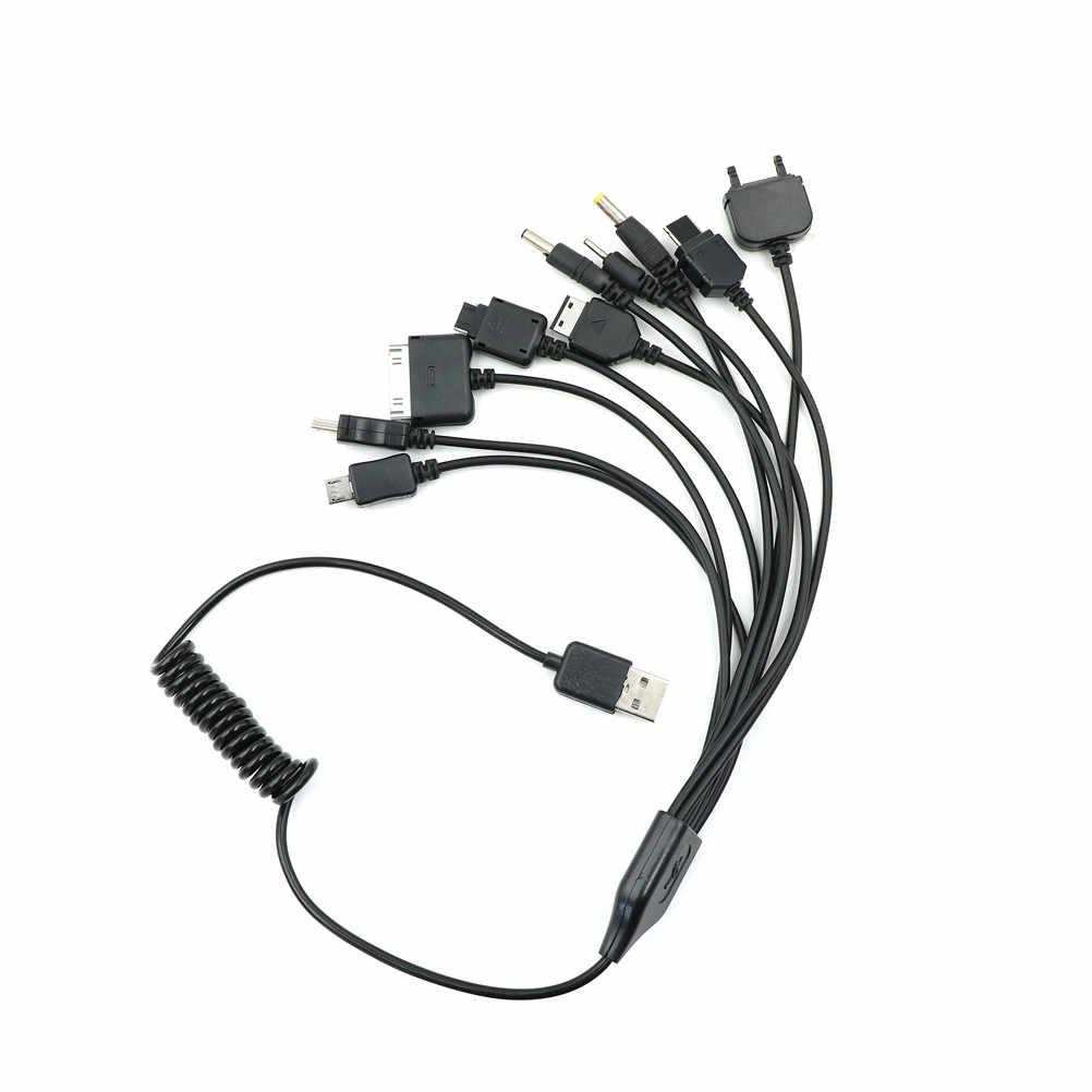 Juego USB Cable de carga cargador de teléfono móvil Multi 10 en 1 Universal multifunción teléfono celular
