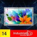 14 Дюймов Open Frame Монитор С Высокой Яркостью И 1366*768 Разрешение/LCD Mnonitor С DVI Интерфейс Для продажа