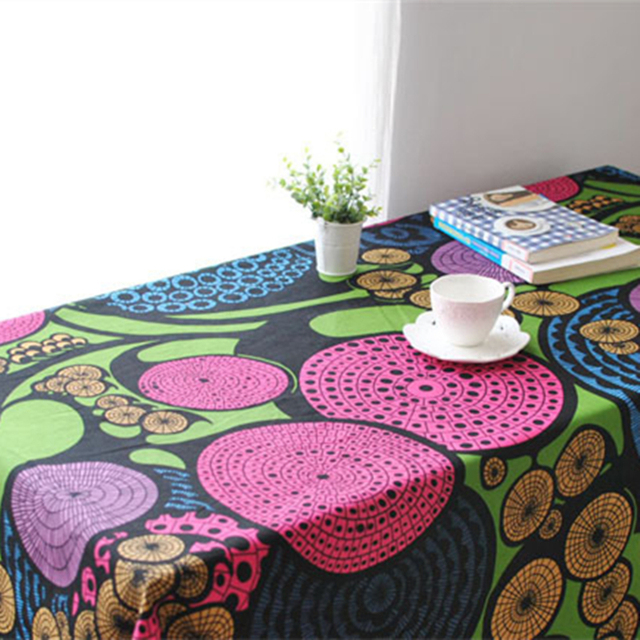 New linen cotton tablecloth woven geometric pattern Japan style square rectangle table cloth round cloths wedding decoration