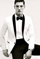 New Bespoke Mens Suits Classic Terno Slim Wedding Groom Tuxedos 2 Pieces Jacket+Pant