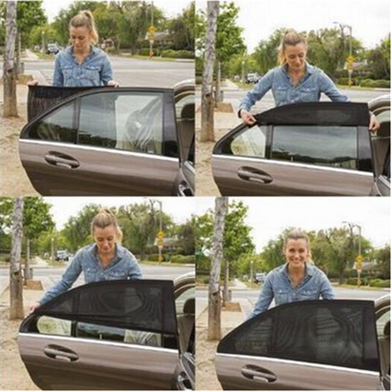 car Side Window Sunshades Protect Window Film of vehicle sock sun protector case For Mercedes Audi Toyota Camry VW car sun shade ...