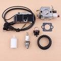 Карбюратор с катушкой зажигания  комплект топливных шлангов и фильтров для Husqvarna 357 XP 359 357XP Jonsered 2159  бензопилы Zama  карбюратор с карбюратором и...