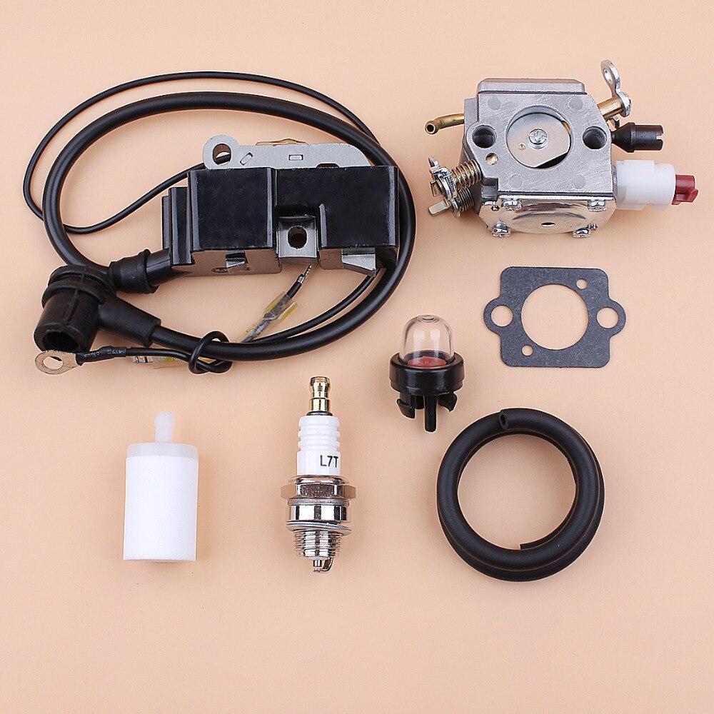 Kit de filtre de tuyau de carburant de bobine d'allumage de carburateur pour Husqvarna 357 XP 359 357XP Jonsered 2159 tronçonneuses Zama C3-EL18B RB-163 Carb