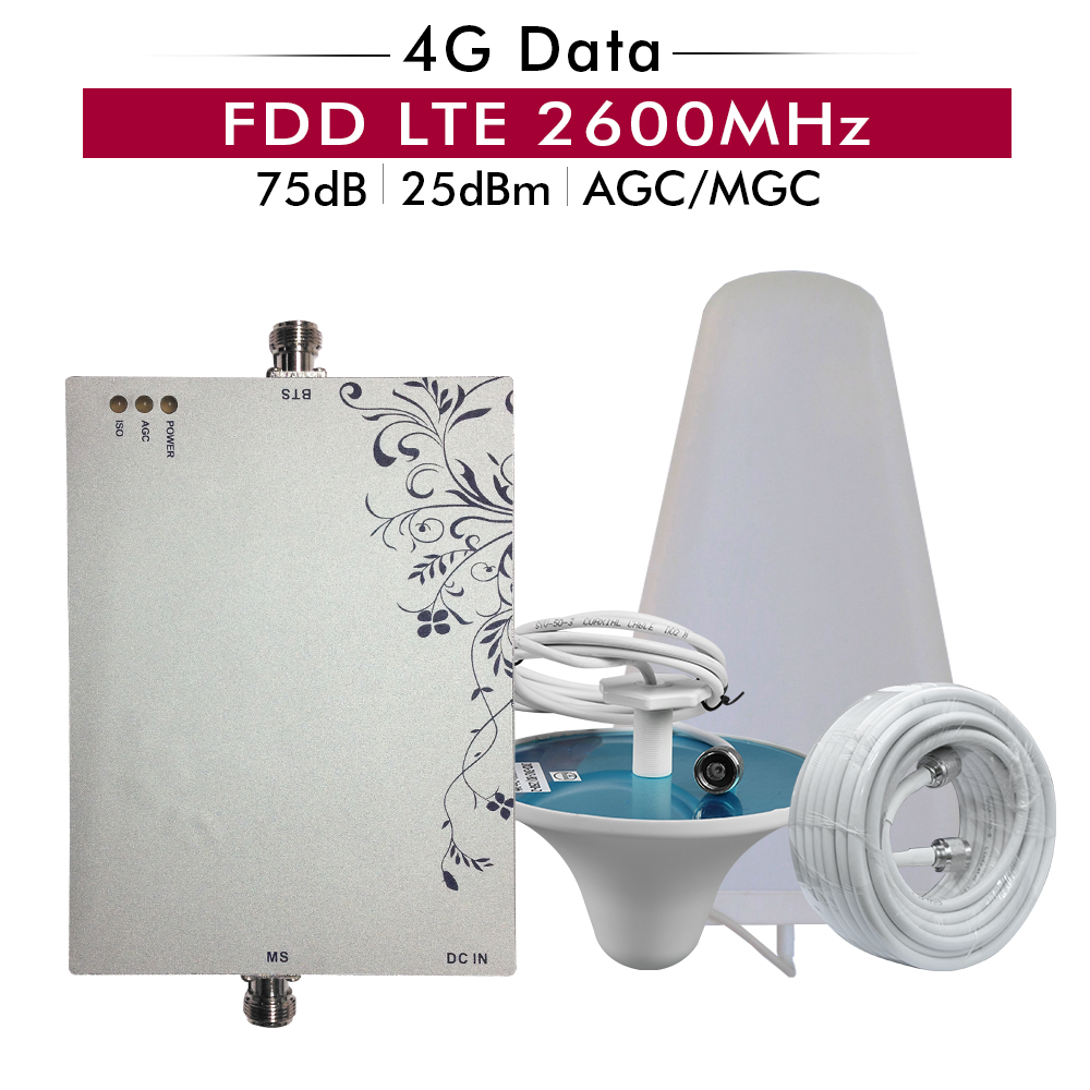 75dB Gain AGC MGC 4G LTE 2600 Mobile Signal Booster 4G LTE 2600(Band 7) Cellphone Signal Repeater Cellular Amplifier Antenna SET75dB Gain AGC MGC 4G LTE 2600 Mobile Signal Booster 4G LTE 2600(Band 7) Cellphone Signal Repeater Cellular Amplifier Antenna SET