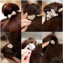 7002 elastic band bracelet summer style hair accessories women headband clips gum weave baffle braided