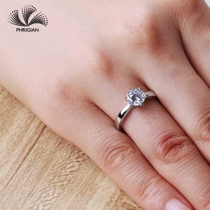 920c3c4e3ec6 Sona no falso bien anillo grabado S925 de plata esterlina anillo de diamante  diseño Original 925