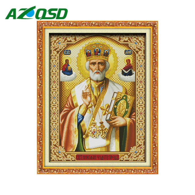 Religion Cross Stitch Patterns Sets For Embroidery Painting Room Decorative DMC Counted Cross Stitch Kits R242