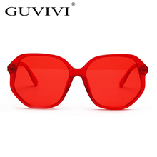 974a4c5c50d9 GUVIVI Suqare Sunglasses Women 2018 New Red Polygon Candy Colors Ladies Sun  Glasses Gift Tourism UV