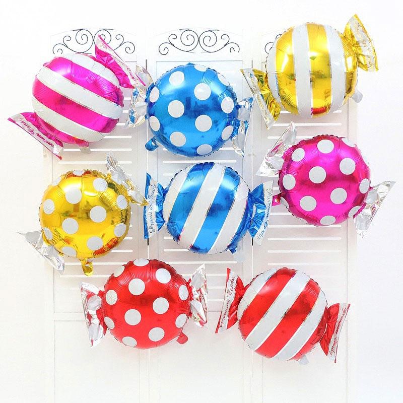 1pcs Candy Foil Balloons Helium Balloon Wedding Decorations Air Balls Happy Birt