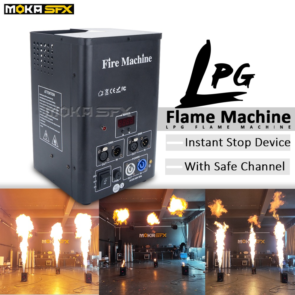 Hot Sale LPG Flame Projector Dmx Stage Fire Flame Machine For Sale Instant Stop Device Stage Flame Thrower With Safe Channel