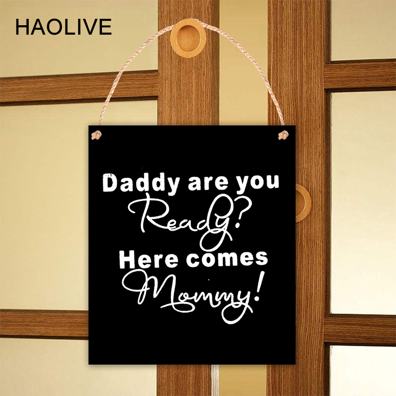 HAOLIVE Wooden Blackboard With Rope 15*13CM Wooden Party Decor Direction Signs Plaque Hangtag Sign For Home Party Accessories