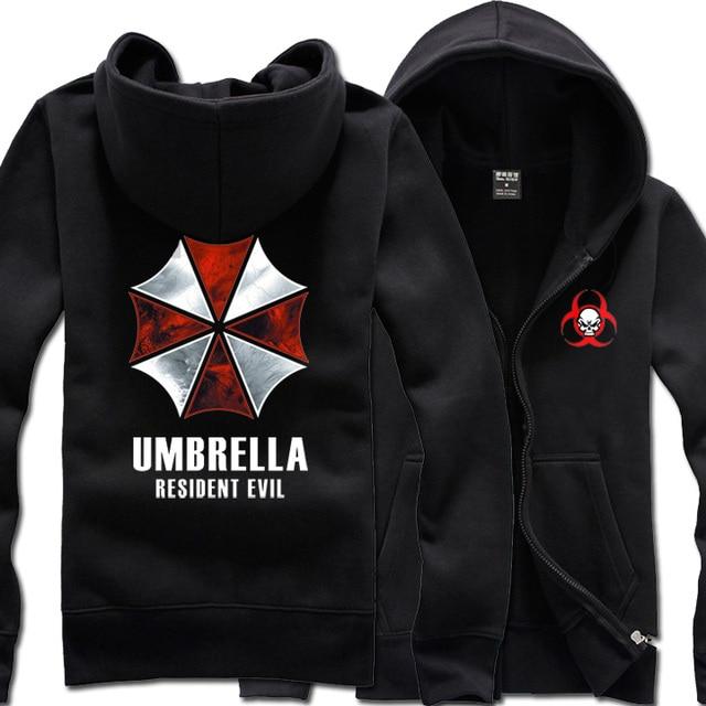 0765a0324 Resident Evil Umbrella Corporation 2 Cores Casaco Jaqueta Moletom Com Capuz  traje Cosplay