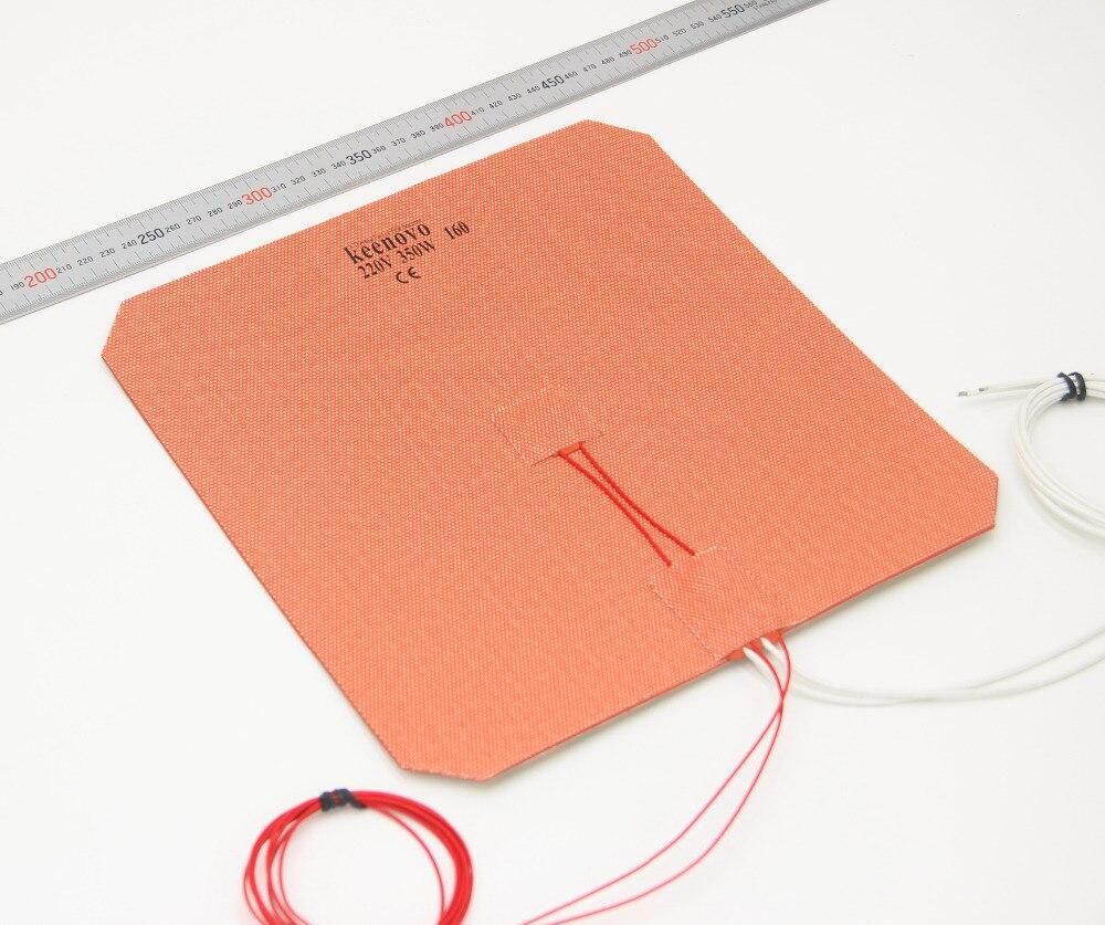 265x265mm 350 W imprimante 3D coussin chauffant plaque de chauffage w/3 M PSA + PT100 + 160C Thermostat  KEENOVO-in Coussins chauffants électriques from Maison & Animalerie    1