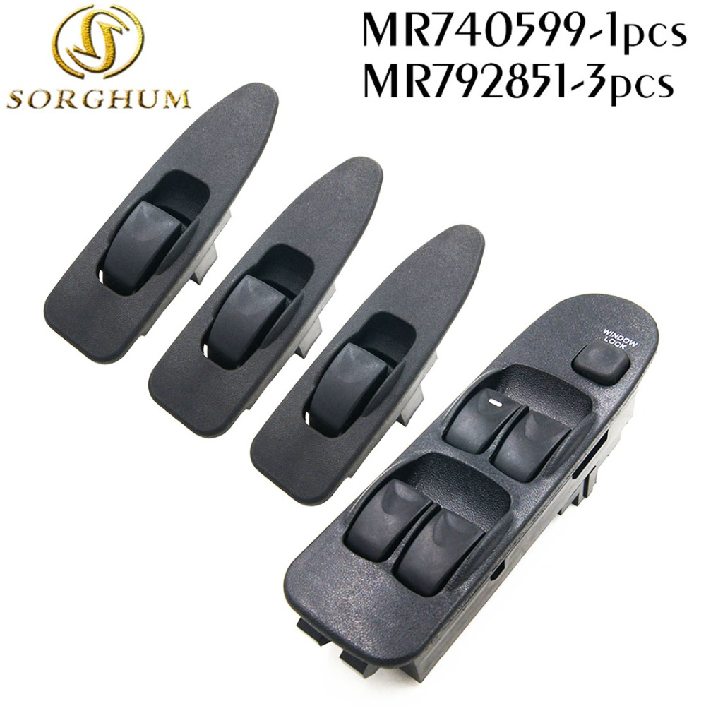 NEW MR740599 MR792851 FRONT LEFT RIGHT ELECTRIC FOR MITSUBISHI WINDOW SWITCH LIFTER FOR MITSUBISHI CARISMA 1995-2006 MR 740 599 mr northjoe front