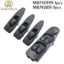 Nowy MR740599 MR792851 z przodu lewego prawego elektryczny dla MITSUBISHI okno przełącznik podnośnik dla MITSUBISHI CARISMA 1995 2006 panie 740 599