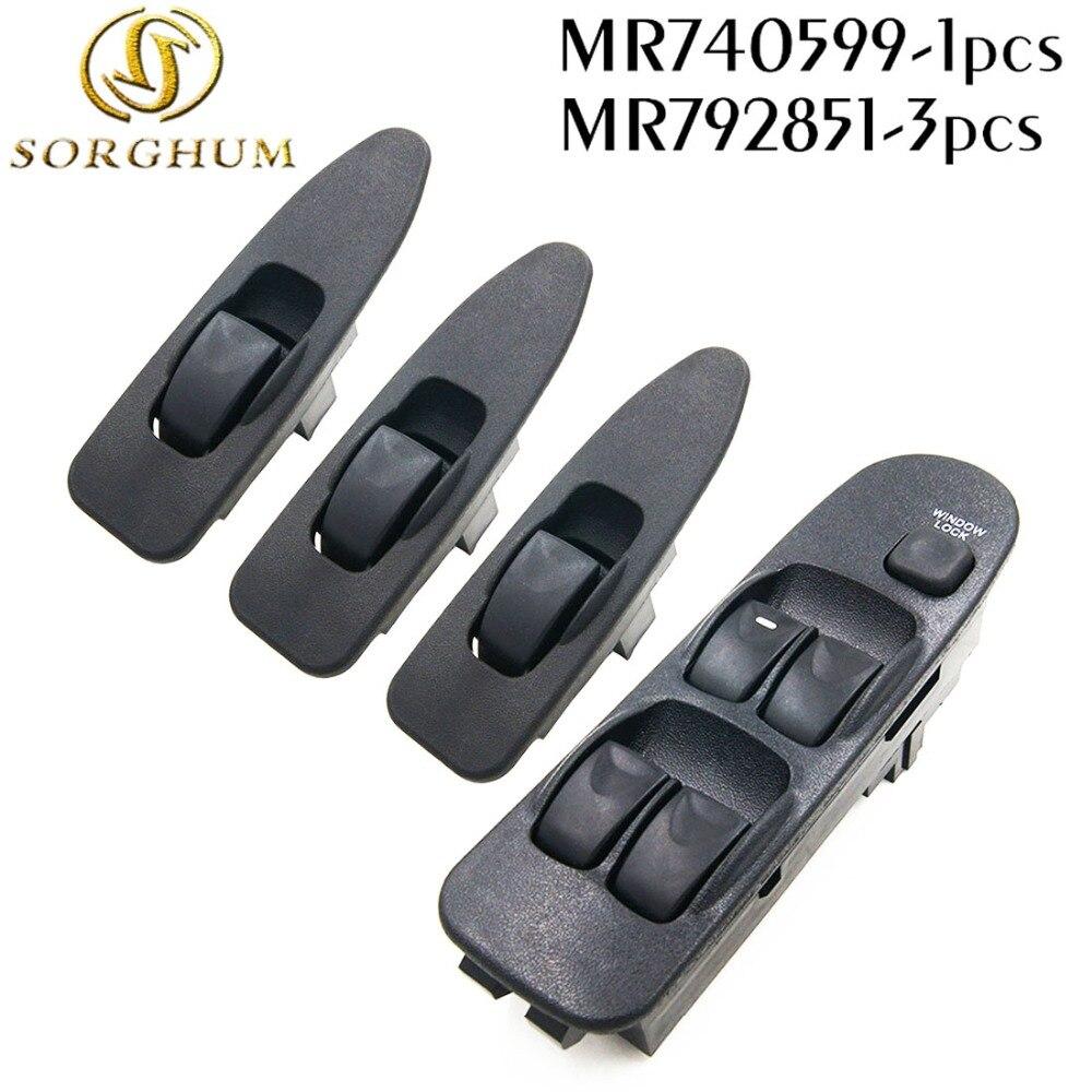 Nueva MR740599 MR792851 frente izquierda derecha eléctrica para MITSUBISHI interruptor de ventana para MITSUBISHI CARISMA 1995-2006 MR 740 599