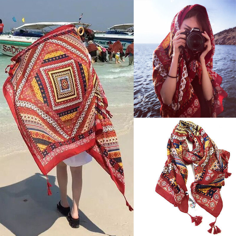 New Fashion Bohemian Print National Tapestry Wall Hanging Beach Yoga Mat Decor Boho Shawls Wraps Scarves Pashmina