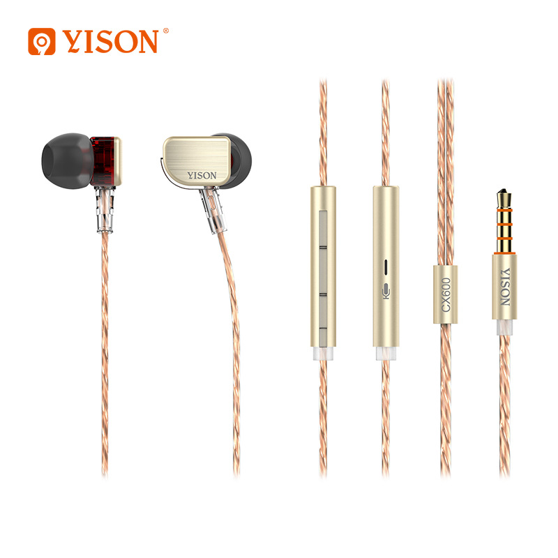 2017 New Yison CX600 new metal matte aluminum bass In-Ear style HIFI earphones Portable with high quality mobile phone гарнитура yison d7 pink