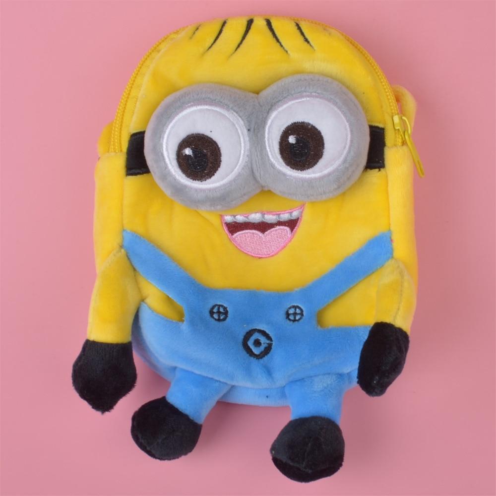 48dfa80db82 Small Size Minions Plush Toy Backpack, Kids Child Plush Bag Gift Free  Shipping