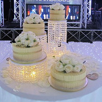 FREE shipping 3PCS/LOT Wedding Cake Stand/ CRYSTAL Centerpieces Several to be a Nice combination Cake Accessory Cake bracket