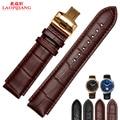 Laopijiang convexo masculino relógio pulseira de couro borboleta em relevo slub adaptador huawei watch pulseira de couro