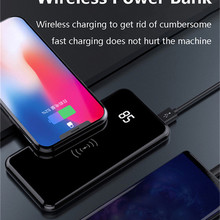 Qi Wireless Charging Power Bank 10000mAh Portable Charger Ch