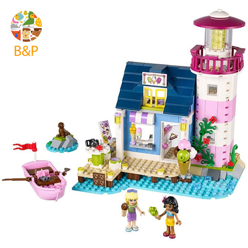 Heart Lake City Lighthouse 41094 478pcs Building Blcok set Brick compatible 10540 Toys for children Gift
