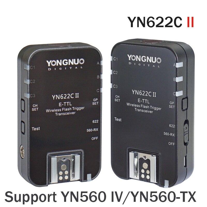 YONGNUO YN622C II HSS E-TTL Flash Trigger for Canon Camera Compatible With YN622C YN560-TX RF-603 II RF-605 yongnuo yn622c ii yn 622 c wireless ettl flash trigger transmitter yn622c ii with high speed sync hss 1 8000s for canon camera