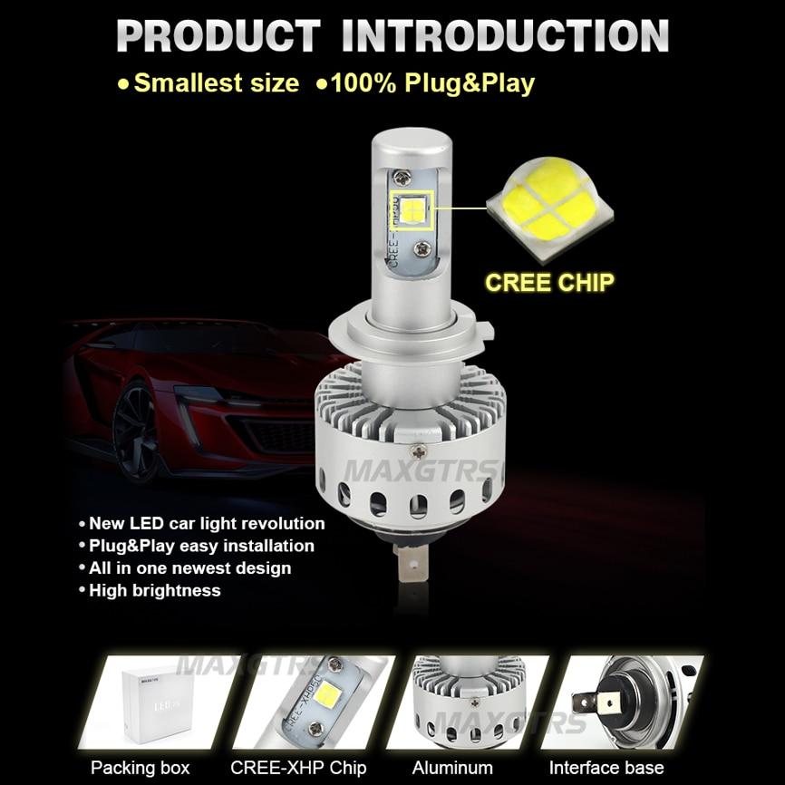 2x CREE CHIP XHP50 bilstrålkastare H4 H7 LED H8 / H11 HB3 / 9005 HB4 - Bilbelysning - Foto 3