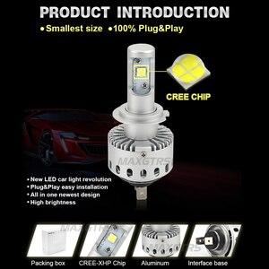 Image 3 - 2x CREE CHIP XHP50 Car Headlights H4 H7 LED H8/H11 HB3/9005 HB4/9006 8000lm Auto Front Bulb Automobile Headlamp 6000K Lighting