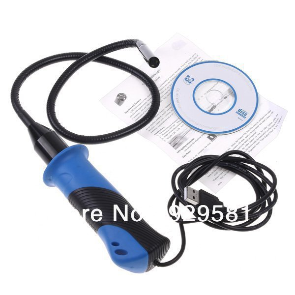 HD waterproof USB Handle endoscope Cable Wire Camera Inspection Wired  Scope Inspection Camera with 4 LED,Wholesale&freeshipping