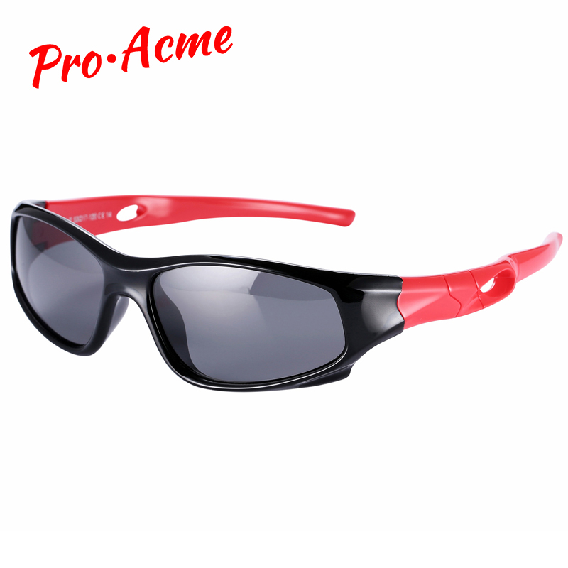 Pro Acme Flexibele kinderzonnebril TAC Gepolariseerde baby Kindzonnebril Veiligheidscoating bril Mode Sportbril CC0608