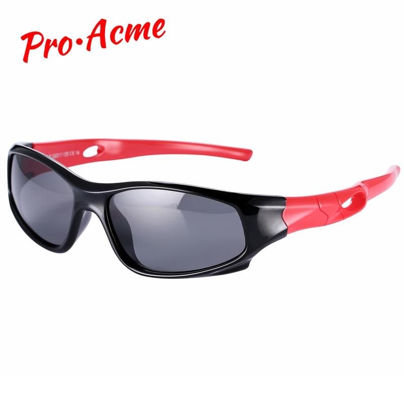 Pro Acme ที่มีความยืดหยุ่นเด็กแว่นกันแดด TAC P Olarized เด็กเด็กแว่นกันแดดความปลอดภัยเคลือบแว่นตาแฟชั่นกีฬาแว่นตา CC0608