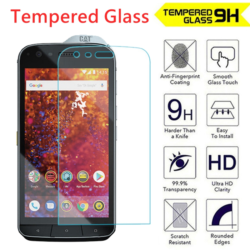 2.5D 9H Tempered Glass film For CAT S61 Screen Protector High Quality Toughened Protective film for CAT S61(China)