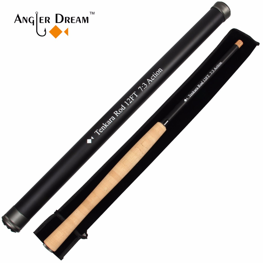 Angler Dream 12/13FT Tenkara Fly Rod 30T Carbon Fiber / Graphite IM8 7:3 Fast Action Telescoping Fly Fishing Rod & Rods Sock high quality 2 43m fly fishing 4 sections portable 66cm ultralight carbon fishing rod medium fast action fly rod tenkara fr166