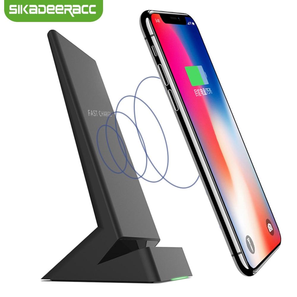 Chargeur sans fil JK73 USB Qi pour iPhone 8 8plus X Samsung Galaxy Note 5 S8 Plus S7 Edge Note 8 LG G5 Station de chargement rapide
