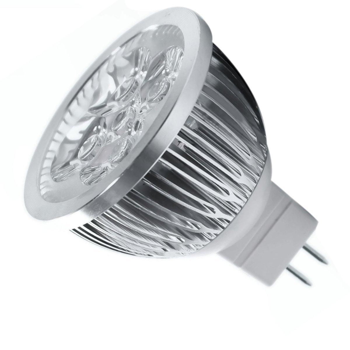 8 * 4W Dimmable MR16 LED Bulb - 3200K Warm White LED Spotlight - 50Watt Equivalent Bi Pin GU5.3 Base - 330 Lumen 60 Degree Beam 15w br40 led light bulb not dimmable e27 e26 screw base wide beam angle 120 degrees 100w halogen bulb equivalent