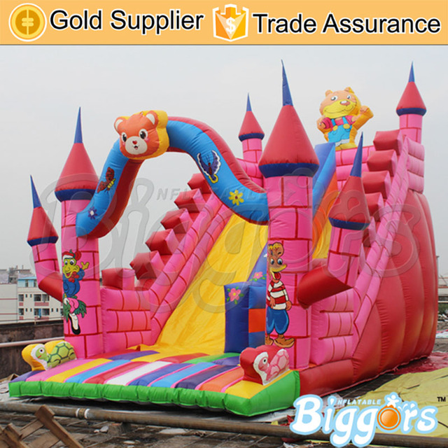 Sea Shipping Durable Factory Price Inflatable Jumping Castle Giant Inflatable Water Slide For Kids