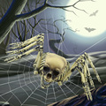 Halloween Props Funny Fearful Hanging Spider Skeleton Ghost House Party Bar KTV Halloween Decoration 2016 New Arrival