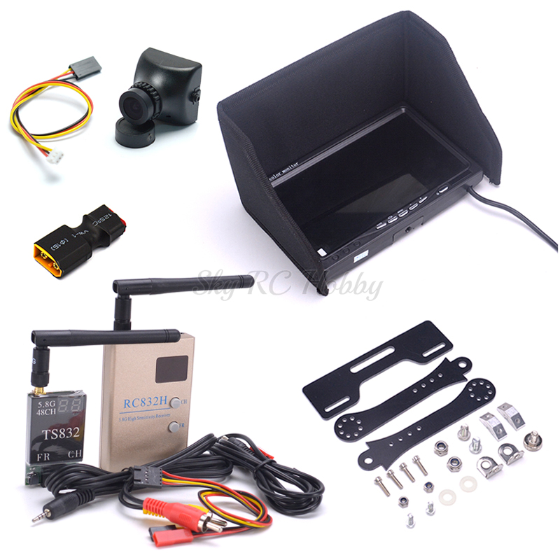 FPV Combo System NO Blue 7 inch LCD 1024 x 600 Monitor Mount Holder 700TVL Camera