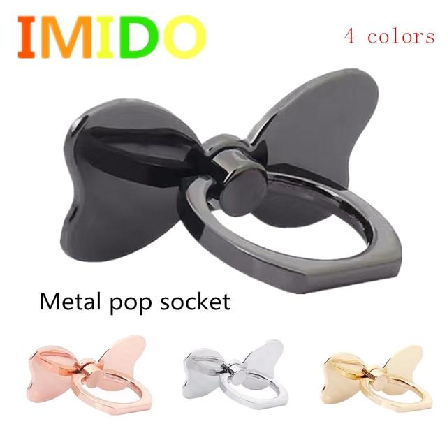 Metallo N Farfalla F Inger Del Telefono Cellulare Pop Socket Holder