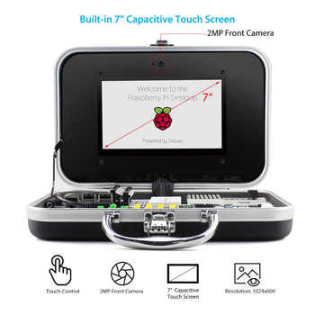 Elecrow Crowpi Raspberry Pi 4B Advanced Kit ALL-IN-ONE 7 inch Touch Screen Children Computer DIY Design Educational Learning Kit