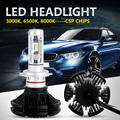 Oslamp csp chips h7 led headlight kits para suv 6500 k 8000 k 3000 K Auto Styling 9005/9006 Bombillas H11 Led Faros Antiniebla Coche Modificado