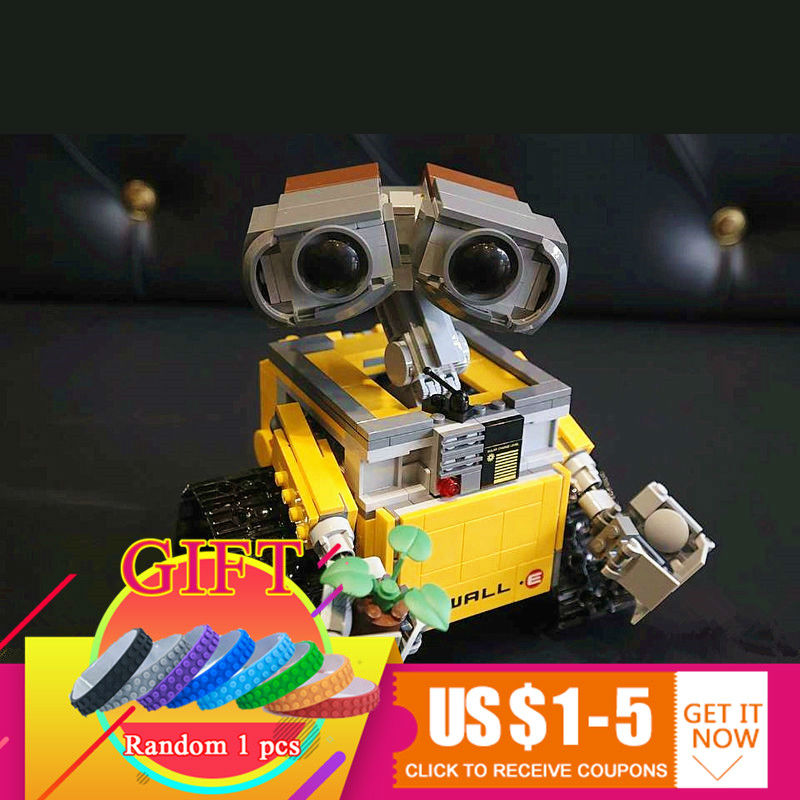 16003 687pcs Idea Robot WALL E Set compatible with 21303 Model Building Blocks toys for children gift 16003 lepin idea wall e robot model