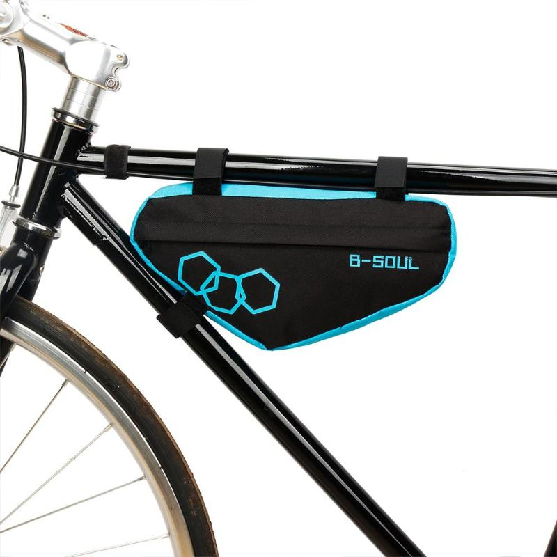 Polyester Waterproof Mountain Bike Triangle Bag Bicycle Frame Front Tube Bags